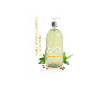 Beau Terra BeauTerra Savon de Marseille Liquide Surgras Huile d'Amande Douce et Aloe Vera 1l