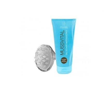 Mussvital gel de bain anti-cellulite 200ml + masseur cadeau