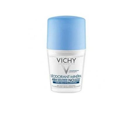 Vichy Déodorant Minéral Sans Sel d'Aluminium 48h Roll on 50mL