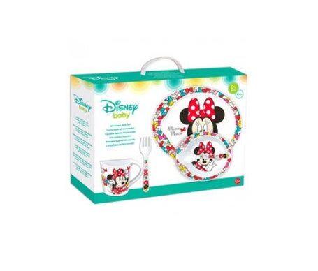 Minnie Ensemble Minnie Disney Petit Déjeuner Bébé Disney Contient 5 Pièces : Assiette, Tasse,