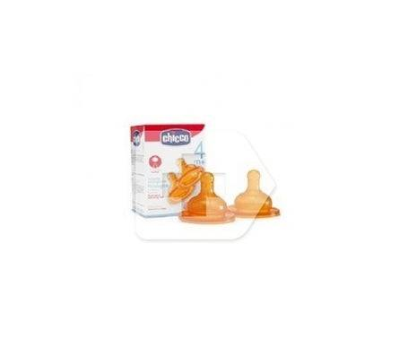 Chicco Tétine Chicco en silicone normale réglable +4M 2uds 2uds