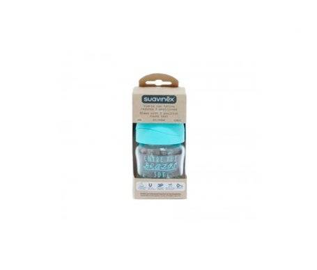 Suavinex™ Bouteille de latex en verre à 3 positions 120ml 1 pc