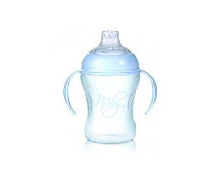 Nuby Softflex Natural Sipper bouteille avec poignées bleues 240ml