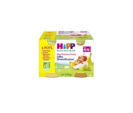 Hipp Compote 1Er Fruit Diversif X4