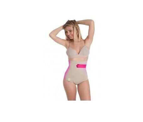 Anaissa culotte haute anti-cellulite de couleur beige Taille-L