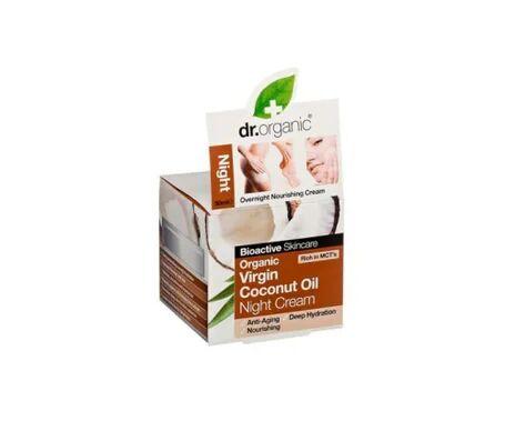 Dr Organic Crème de nuit à l'huile de noix de coco Dr Organic 50Ml