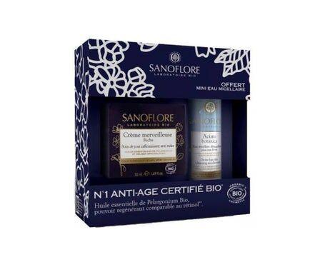 Sanoflore Coffret Merveilleuse crème anti-rides certifié bio + eau micellaire