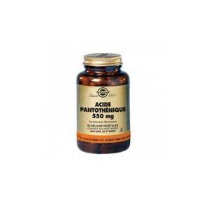 Solgar Acide Pantothénique 550mg (Vitamine B5) 50 gélules Végétales - Publicité