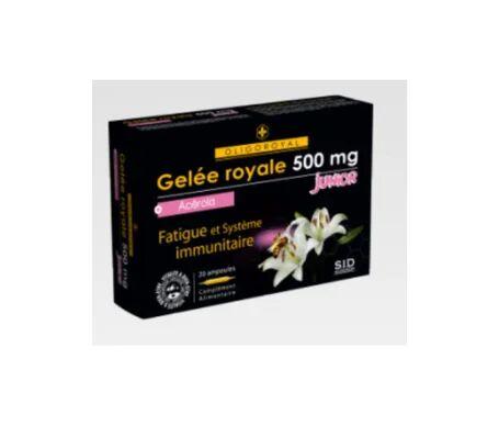 Oligoroyal SID Nutrition Oligoroyal Gelée Royale 500mg Junior + Acérola 20 ampoules