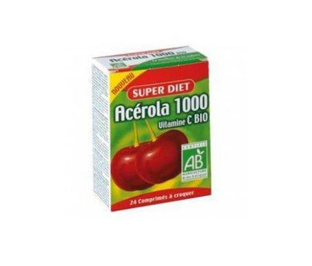 Baule Volante & Fior di Loto Super Diet Acerola 1000 Bio 24 comprimés