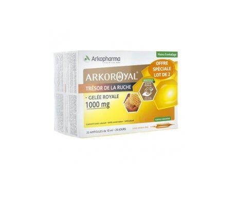 Arkopharma gelée Royale 1000mg 20 Ampoules Lot De 2