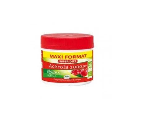 Super Diet Maxi Pot Acerola 1000 Bio 60 comprimés