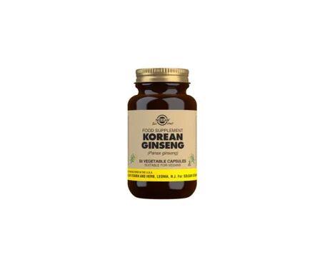Solgar ginseng Coréen 50 gélules Végétales