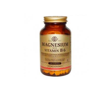 Solgar Magnésium avec Vitamine B6 250 comprimés