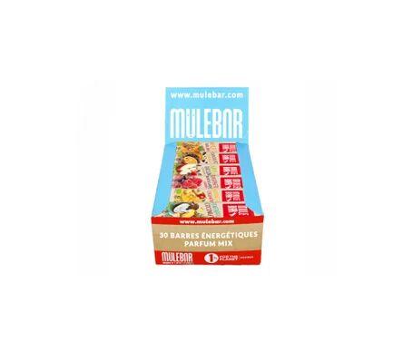 Mulebar Barres Énergétiques Vegan Boîte Multi-Parfums 30 barres