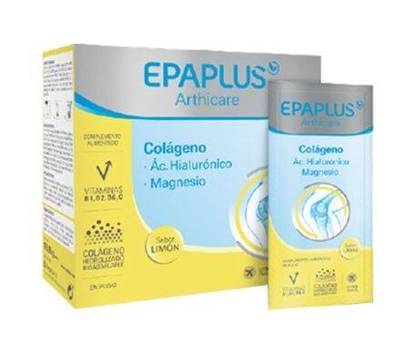Epaplus Collagène + Acide hyaluronique + Magnésium Goût Citron 14 sachets. Poudre (unidose)