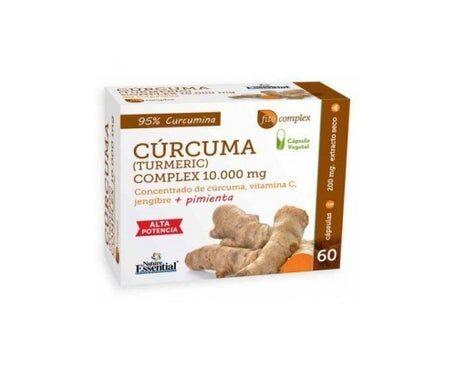 Nature Essential Curcuma 95 % + Gingembre + Poivre + Vitamine C 60 capsules