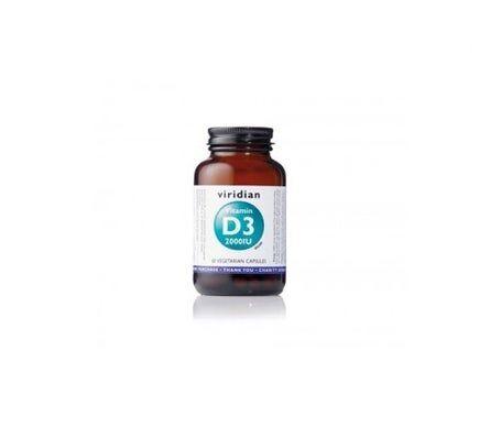 VIRIDIAN Vitamine viridienne D3 2000 UI 60 gélules