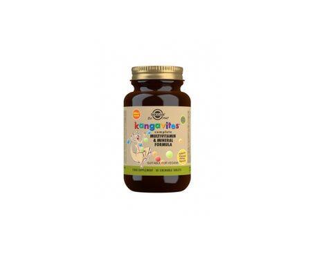 Solgar Kangavites Multi Vitamines Et Minéraux Arôme Naturel Tropical 60 Comprimés À Croquer