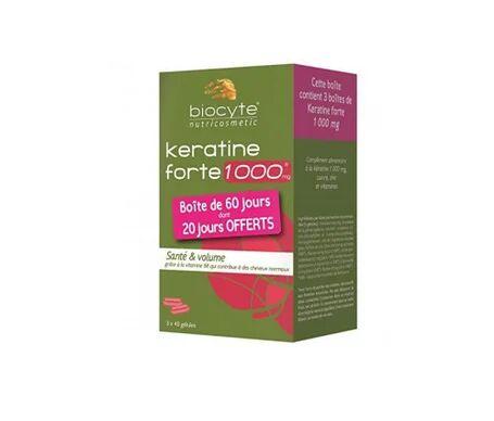 Biocyte Keratine Forte 1000mg 40 gélules lot de 3