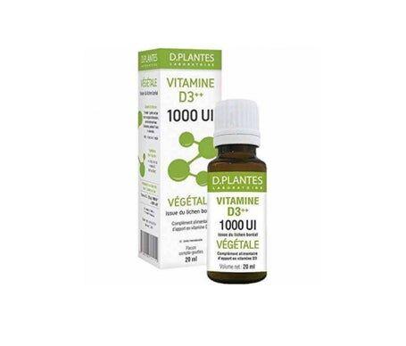 D.Plantes Vitamine D3++ 1000 Ui Vegetal 20ml
