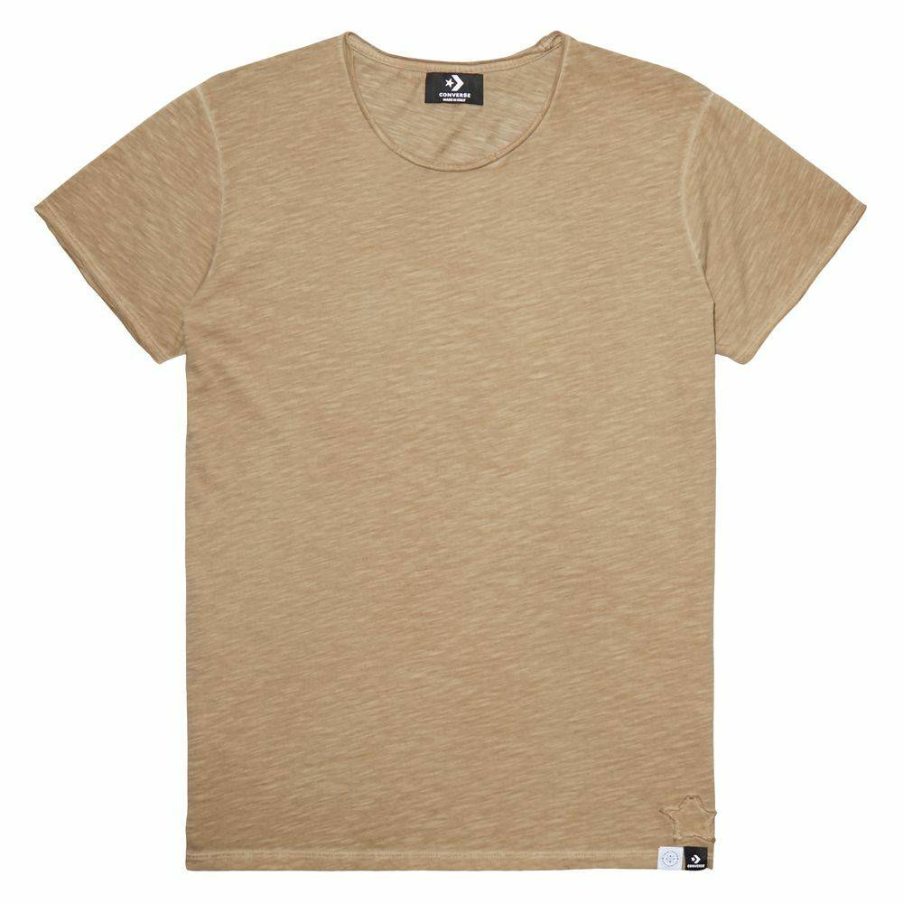 CONS Crew à manches courtes Italian Crafted Dye Brown taille: XS