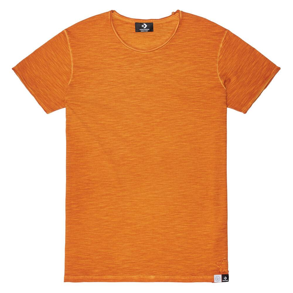 CONS Crew à manches courtes Italian Crafted Dye Pumpkin Dyed taille: XS
