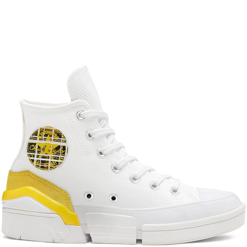 CONS Mix and Match CPX70 High Top White/Speed Yellow/Black taille: 42.5