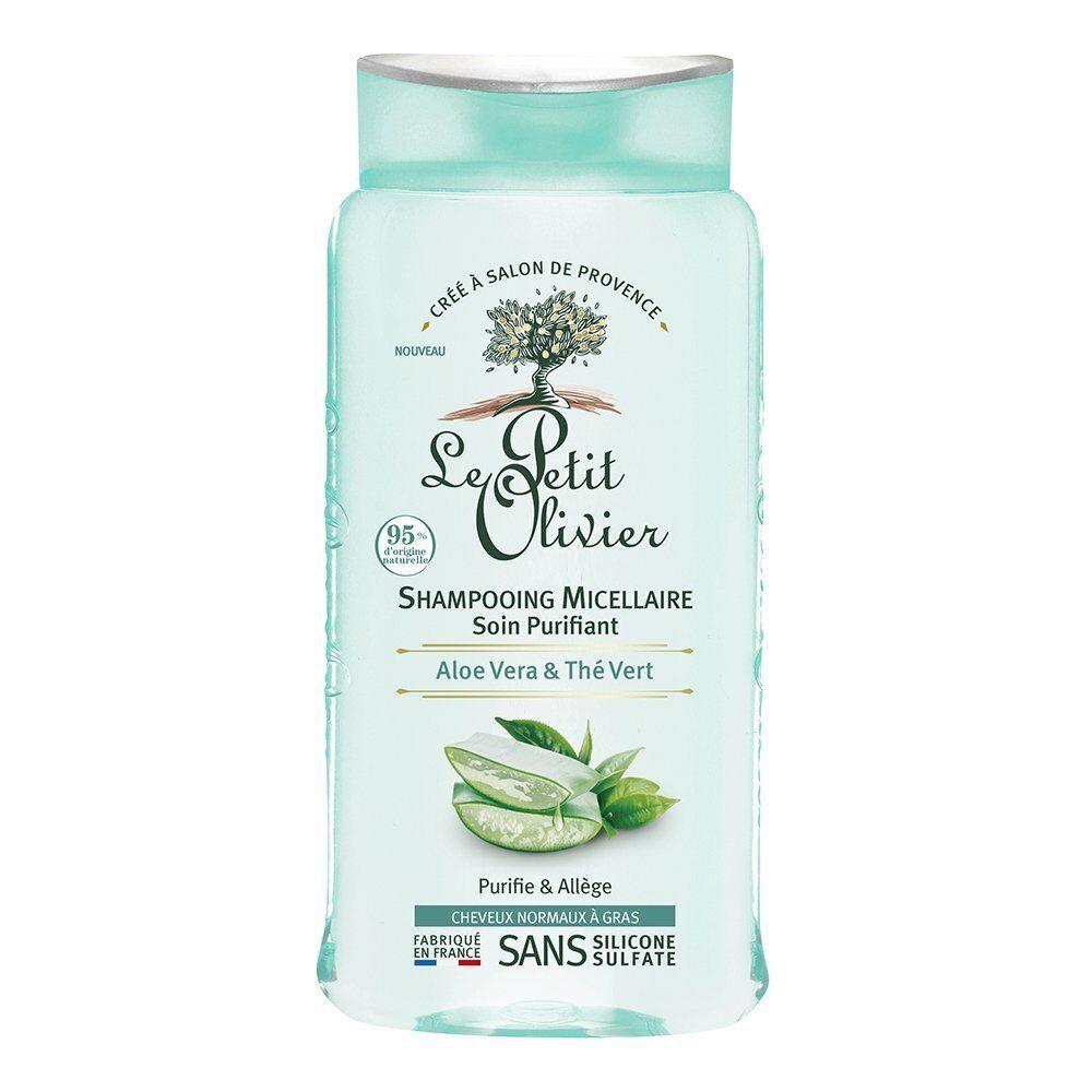 Le Petit Olivier Shampooing Micellaire Soin Purifiant - Aloe Vera & Thé Vert - Cheveux Normaux à Gras