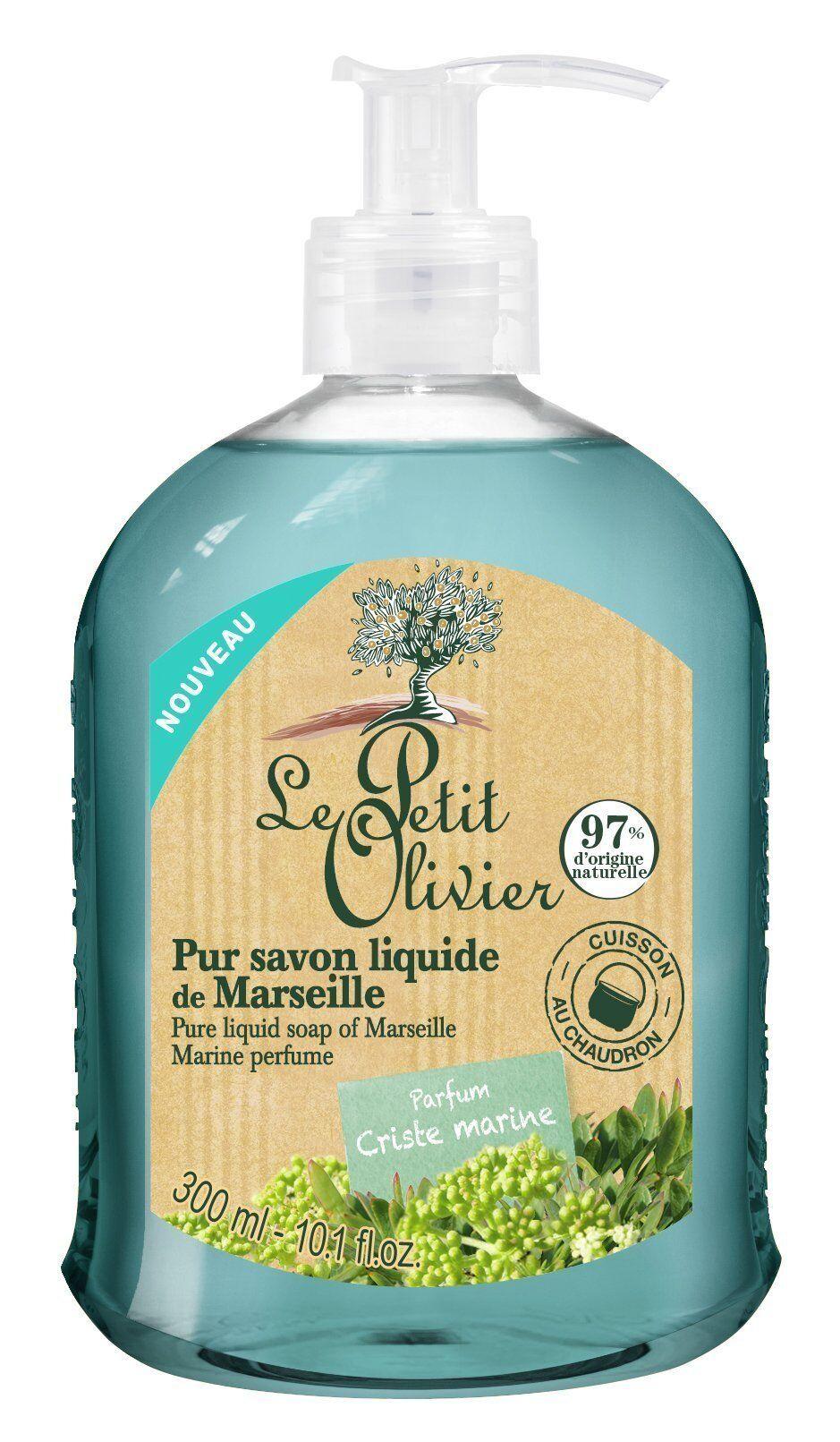 Le Petit Olivier Pur Savon Liquide de Marseille Parfum Criste Marine