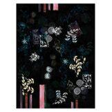 Moooi Carpets Tapis Le Temple Jais / 300 x 400 cm - Moooi Carpets noir,motifs multicolores en tissu