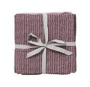 Ferm Living Lange pour bébé / Débarbouillette coton - Lot de 3 - Ferm Living rose,prune,motifs à carreaux en tissu