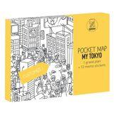 OMY Design & Play Poster à colorier Pocket Map - Tokyo / 52 x 38 cm - OMY Design & Play blanc,noir en papier