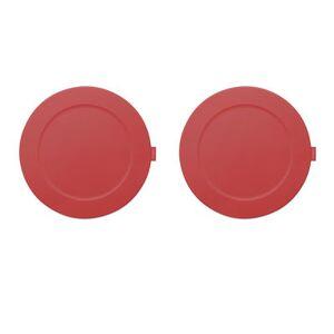 Fatboy Set de table Place-we-met / Set de 2 - Silicone souple - Fatboy rouge industriel en matière plastique