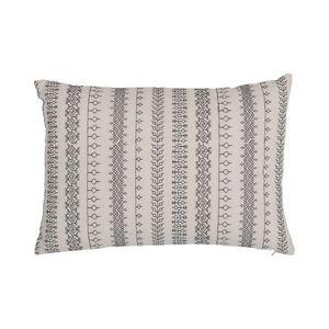 Bloomingville Coussin / 35 x 50 cm - Coton - Bloomingville blanc,noir en tissu