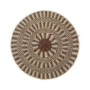 Bloomingville Set de table / Herbier marin - Ø 38 cm - Bloomingville marron en fibre végétale