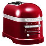 KitchenAid Grille-pain Artisan / 2 tranches - Capteur de chaleur électronique - KitchenAid rouge pomme d'amour en métal