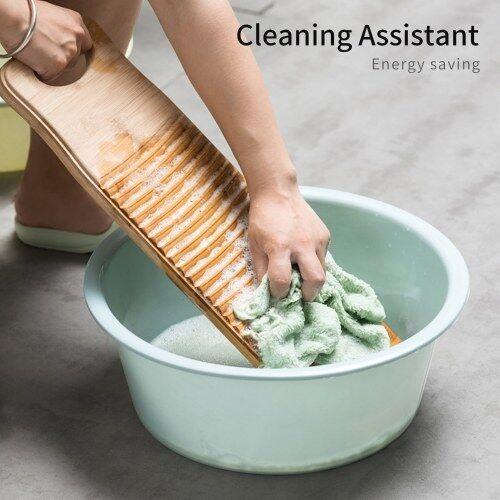 other Disponible planche à laver en bois planche à laver avec poignée rectangulaire percussion à main planche à laver à la main pour la lessive à la maison vêtements pratique durable bambou épaissi planche à laver