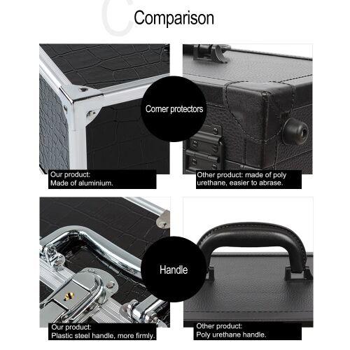 other Boîte de grand organisateur cosmétique composent cas pour Make Up outils verrouillable noir contenant la boîte de rangement