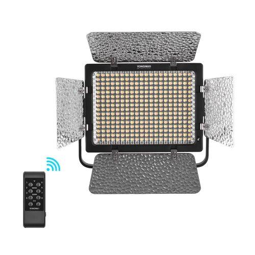 YONGNUO YN320 Professionnel Sur Caméra Bicolore Dimmable LED Vidéo Lumière APP Contrôle 3200 K / 5500 K CRI95 + avec Support de Support de type U + 12 V 2A Adaptateur Secteur pour Canon Nikon Sony DSLR Caméras