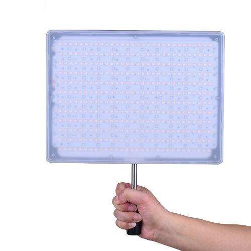 YONGNUO YN600 RGB Professional 5500K + RGB LED Video Light Soft Light Slim & Light Design réglable CRI≥95 Luminosité avec télécommande Soutien APP Télécommande Éclairage de studio