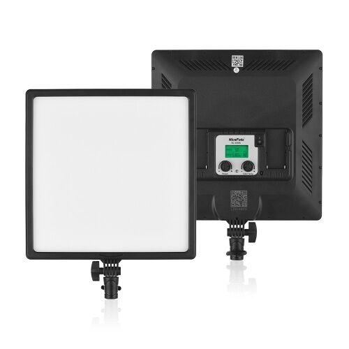 NiceFoto SL-500A Ultra Slim Bi-Couleur LED Vidéo Lumière Photographie Fill Light 3200K-6500K CRI 95+ APP mobile Contrôle pour l'enregistrement vidéo Studio professionnel Photographie commerciale Photographie de mariage Photographie en direct