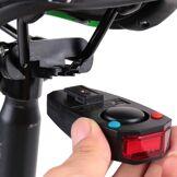 other Taillights Bike Intelligent Anti-Theft Bicycle Phare arrière Alarme LED vélo Strobe Avertissement électrique Bell USB Télécommande sans fil VTT Câble Accessoires