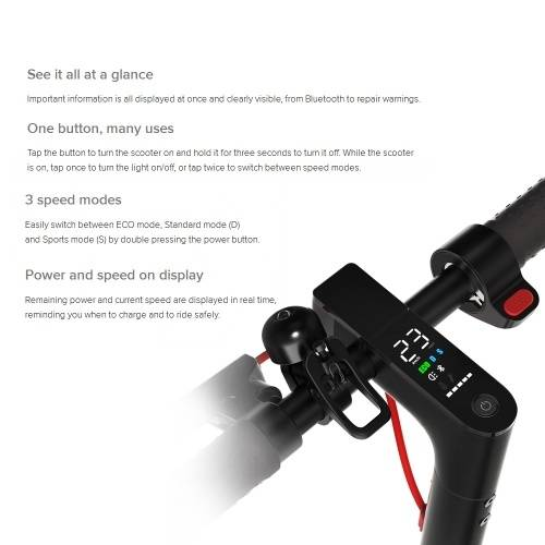 other Xiaomi Mijia 2019 Nouveau Scooter électrique M365 Pro Pliable Smart Skateboard 12.8Ah Batterie Max. Plage de kilométrage de 45 km - Noir