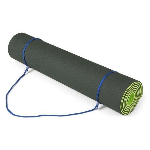 Lixada 72.05 × 24.01in Portable Double bicolore Yoga Mat Épaissir Tapis de sport Tapis d'exercice antidérapant