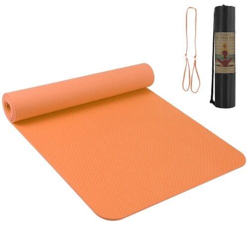 other 72.05 × 24.01in tapis de yoga portable épaissir le tapis de sport tapis d'exercice antidérapant pour les entraînements de remise en forme avec sangle de transport et sac de rangement