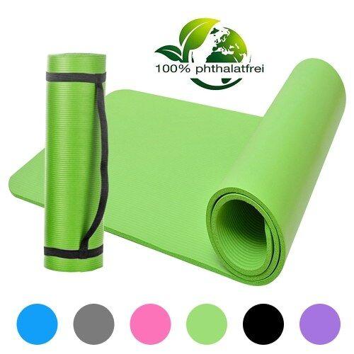 lixada Tapis de yoga NBR Tapis de yoga en mousse à cellules fermées Tapis d'exercice antidérapant