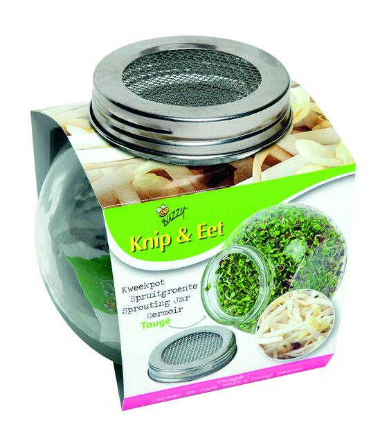 Bio Coupe & Mange - Germes de Soja vert - Germoir de verre