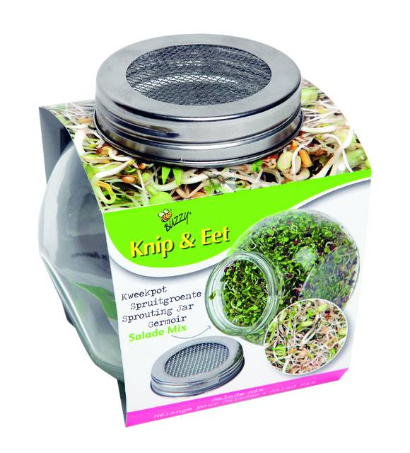 Bio Coupe & Mange - Mélange pour salades - Germoir de verre