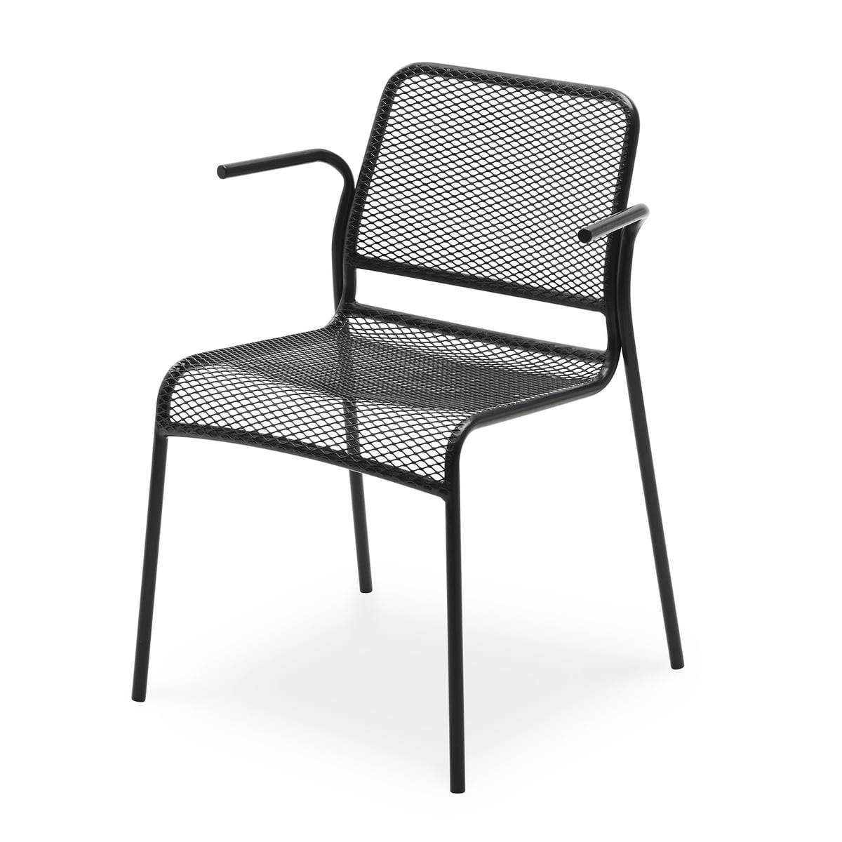 Skagerak - Chaise à accoudoirs Mira, anthracite